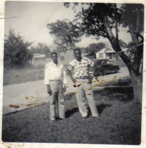 Felton Frank and Welton Frank in the 1950s