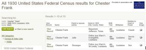 Chester Frank 1930 census_3 records