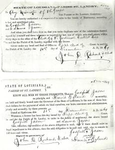 Godfrey and Laura Jason Marriage License pg 1