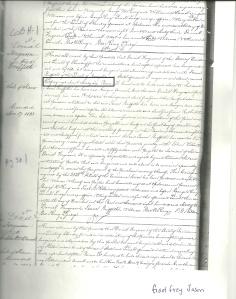 Godfrey Jason slave doc 1833