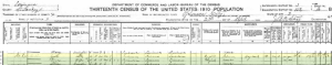 1910 US Census Gabe Ruben