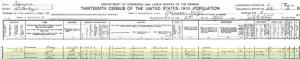1910 US Census Gabe Ruben