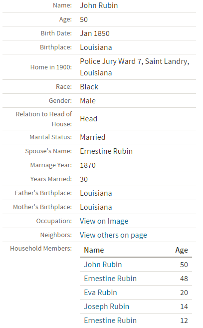 eva rubin 1900 census