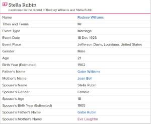 Stella Ruben marries Rodney Williams