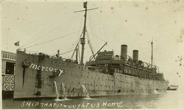 USS Mercury ship Alsen Jason sailed WW1